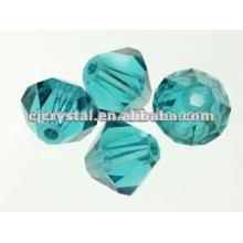 Perles d'émeraude de 8 mm, perles de bicône, perles de vente en gros