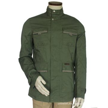 Chaqueta Softshell impermeable de los hombres de Ployester, chaqueta barata de Softshell sin la capilla