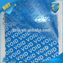 Anti-falsificación no acepta si el sello se rompe seguridad anula la cinta de violación con el número de serie