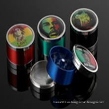 Hermosa cara trituradora de fumar Metal Herbel Grinder para accesorios de cigarrillos (ES-GD-003)