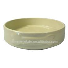 Cerâmica Color-glazed Pet alimentação Bowl para cão para BS131118B