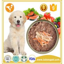 Preços competitivos alta qualidade sem aditivos alimentos para cães enlatados