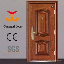 PU espuma de aislamiento térmico exterior puertas de acero