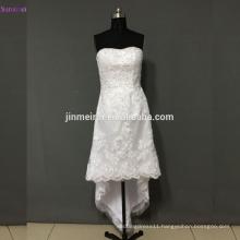 Beach Wedding Dress Sweetheart Off The Shoulder Buttons Back Tea Length Vintage Wedding Dresses Short Wedding Gown