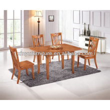 Rectangular solid wood dining table combination of oak XDW1278