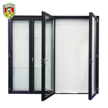 French style extruded aluminum frame folding door/for low external price aluminum folding door