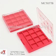 MC5057B Plastic Square 12 couleurs étui en plastique casque en gros