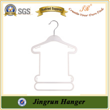 White Plastic with Metal Hook Baby Hangers