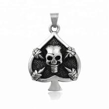 34140 xuping moda design especial preto arma cor cool heart shape crânio pingente