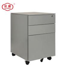 3 drawer locking metal file pedestal cabinet