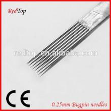 100% EO gas esterilizado Bugpin tatuaje aguja