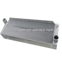 Алюминиевый пластинчатый воздушный охладитель для поршневого компрессора, гидравлический воздухоохладитель