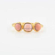 Розовый Опал Камень С Серебряный Обручальное Мода И Свадебные Кольца Ювелирные Изделия