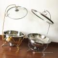 Aquecedor de comida de aço inoxidável do servidor do bufete / potenciômetro quente que aquece o prato