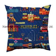 18 X18 Custom Digital Printed Cotton Canvas Square Cushion Cover