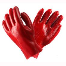Protection des gants rouges revêtus de PVC avec CE Certifiate