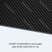 FPV/ Drone 3.5x400x500mm Carbon Glass Twill Matte Plate/Sheet Price Manufacturer for Cutting Machine