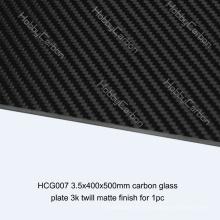 Fabricante matte da placa da placa da sarja do vidro de carbono de FPV / Drone 3.5x400x500mm / folha para a máquina de corte