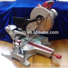 1800w Low Noise Professional Power Aluminium / Holz Schneidemaschine Tragbare elektrische 305mm Silent Motor Gehrungssäge