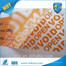 Preço de fábrica Auto-adesiva Tamper Proof VOID Sticker of China National Standard