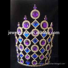 Casamento roxo e azul tangerina desfile tiaras e princesa coroa para as meninas