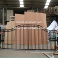Casa simple parrilla puerta de entrada de la puerta de entrada de hierro forjado