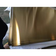Folhas SS 304 NO.4 GOLD PVD
