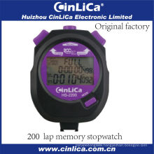 HS-2200 professional pocket digital plastic stopwatch with 3 lines