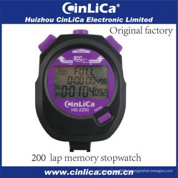 Chronomètre électronique numérique à poche HS-2200 avec 3 lignes