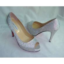 New Design Ladies High Heel Wedding Dress Stiletto (HCY02-126)