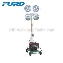 Torre de luz LED portátil de 4 focos com corpo estreito compacto (FZM-400B)