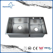 Modern Hand Made Kitchen Stainless Steel Sink (AS8245R)
