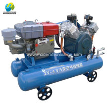 Double Air Tank Diesel Portable Piston Air Compressor
