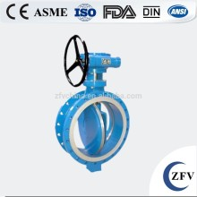 Double flange metal seal triple eccentric butterfly valve