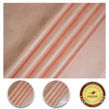 Soft Peach Color 100% Cotton Fabirc For Women Dress African Jacquard Fabric Dyed Guinea Brocade