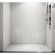 Embedded Acrylic Shower Pan With Drainer