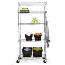 Rack de arame cromado ajustável para cozinha de hotel e armazenamento de sala fria