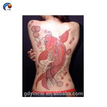 Tatouage d'autocollant arrière frais complet d'animal pour l'homme et les femmes, faux tatouage provisoire pour la peau