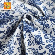 Tecido de canvas impresso 100% algodão porcelana azul e branca