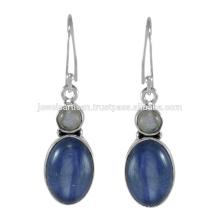 Lovely Kyanite e Labradorite Gemstone 925 Sterling Silver Earring Jewelry