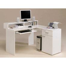 Bureaux d'ordinateur blanc incroyables dans des idées de conception en forme de L (HF-D001)