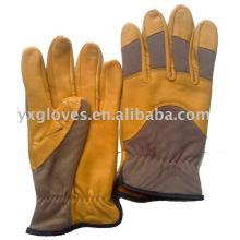 Желтые Кожаные Перчатки Зерна Кожаные Перчатки-Промышленные Перчатки-Рабочие Перчатки-Перчатки