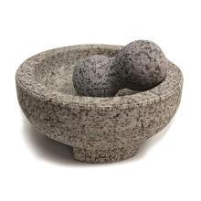 8-Zoll-Granit-Molcajete-Mörser und Pistill