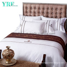 Cotton Polyester Bed Sheets Hotel 1000 Thread Double White