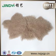 Usage à la maison et matériel de mouton Peau de fourrure d'agneau du Tibet mongol