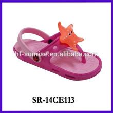 2014 cute soundable girls slipper in cartoon design