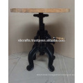 vintage industrial crank stool