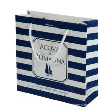 Wholesale Custom Gold Foil UV Logo Luxury Cosmetics Card Board Paper Packaging Bag