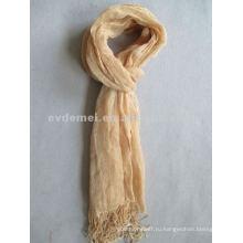 Сплошной цвет полотняный шарф / длинный шарф