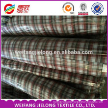 100% cotton yarn dyed woven fabric Fully goods in stock yarn dyed shirting fabric Yarn dyed shirting plaid fabric